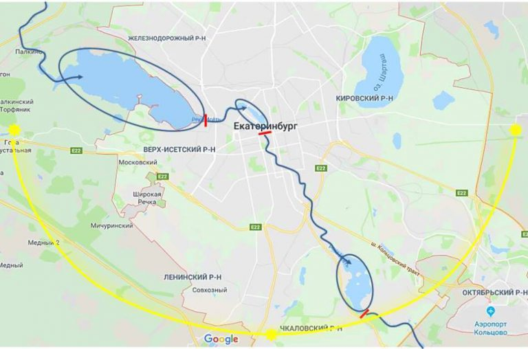 фен шуй екатеринбург река